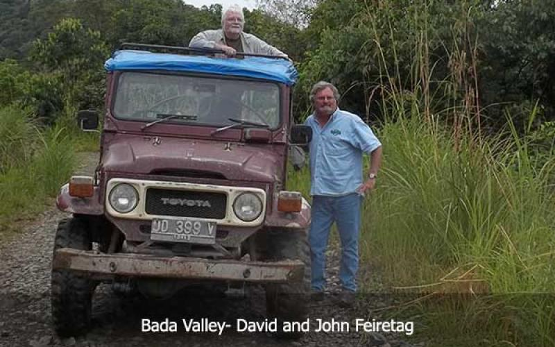 David Hatcher Childress in Bada Valley with John Feiretag