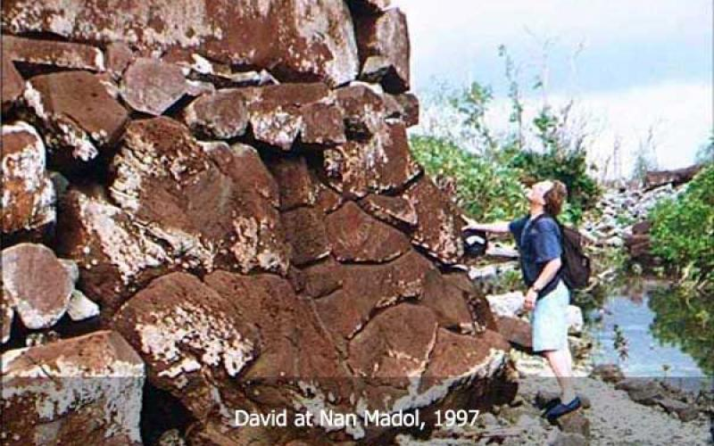 David Hatcher Childress at Nan Madol