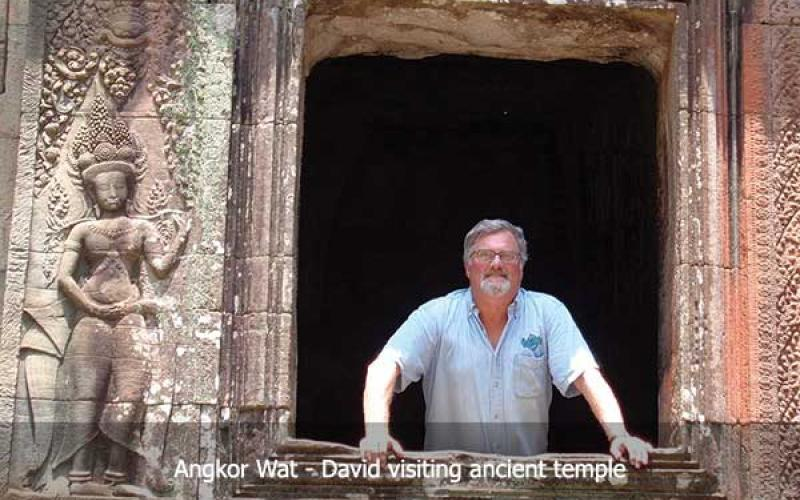 David Hatcher Childress at Angkor Wat